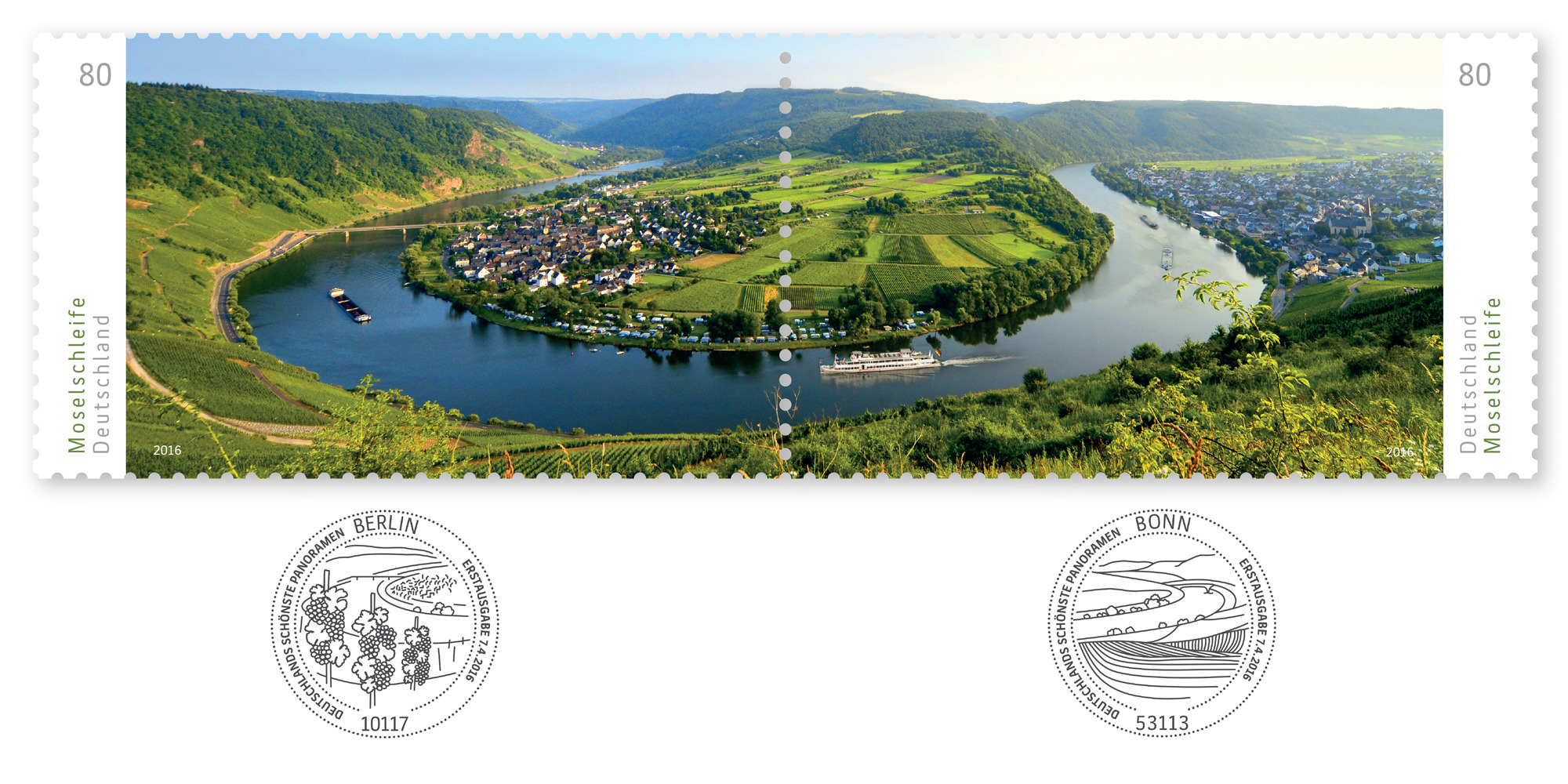 Sonderpostwertzeichen-Serie Deutschlands schönste Panoramen: Moselschleife