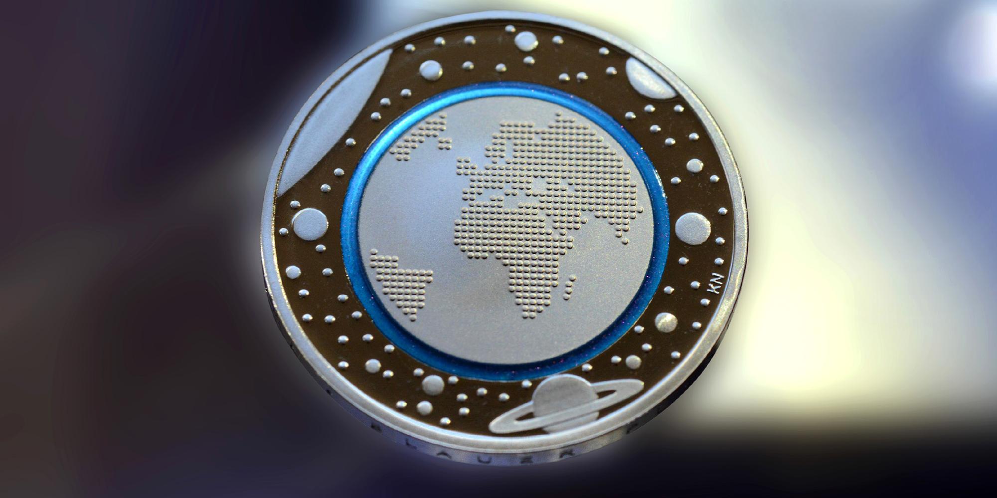 5-Euro Münze Blauer Planet Erde